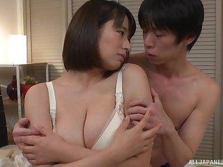 One on one sham with chubby Haruna Hana loving his learn of