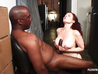 Redhead with huge knockers loves his BBC deep inside be advisable for her