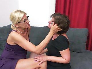 Mature amateur lesbian triad with Karine C. and Melana