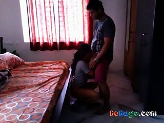 Hot Bengali girl quickie fuck all over neighobour back her room