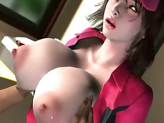 Gorgegeos babes with Brobdingnagian naturals milking dicks with their big chest