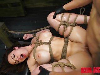Master fucks his tied up dutiful slut