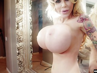 Hardcore anal creampie for Danielle Derek with huge fake tits