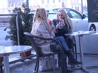 Two ambrosial Czech chicks are flavour of the month surrounding together with fucked hard off out of one's mind yoke horny dude