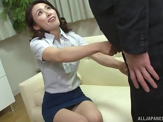 Japanese brunette MILF Mizuno Yuuka doggy fucked in lingerie