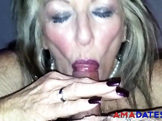 Superannuated British Strumpet Blowjob 2
