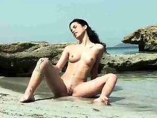 Three Hot Studs Masturbate at Beach