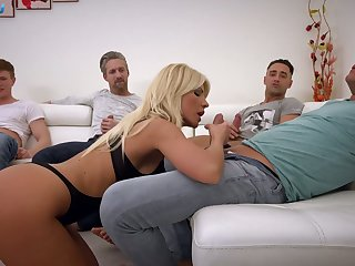 Kinky Hungarian busty blonde Tiffany Rousso is on the very point of work on dicks