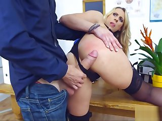 Comme ci Cougar Teacher gets Ravaged by Student's Cock