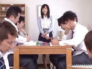 Estimated gangbang hither the office is all just about Yuu Asakura talking