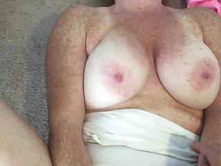 Redhead in fist panties