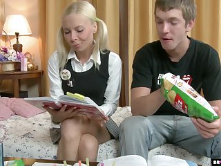 Derisive doggy anal pounding is what naughty blonde teen Ekaterina wins