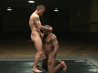 Muscular gay challenge fucks funereal dude in a difficulty ass