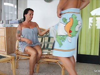 German StepMom Katie Seduce to Fuck in one's own time hard by StepSon