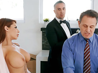 Horny butler is ready fro anal fuck housewife