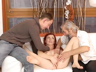 Real mom and boss's son eat pussy Unexpected