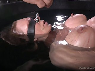 Dirty torture innings with boobs torture for blonde Spill DeGrey