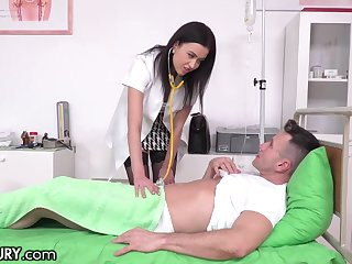Mindfulness Nicole has sex with her patient and that babe in arms can fuck