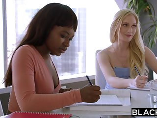 Adjunct emma starletto's interracial experience w boss